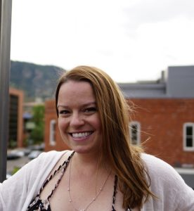 Danielle, co-founder of Colorado Hemp Extracts, in downtown Boulder