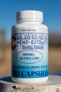Colorado Hemp Extracts 900mg CBD Capsules